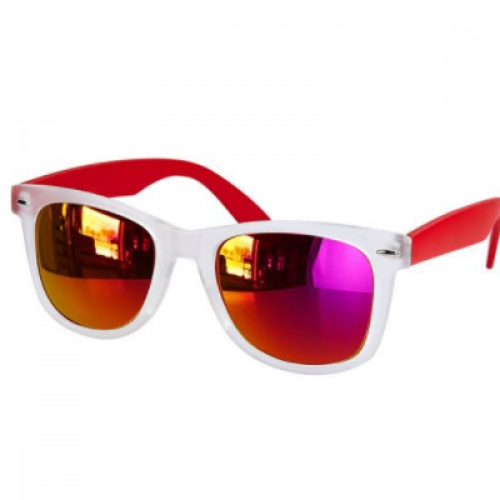 LENTES MIRROR COLOR ROJO