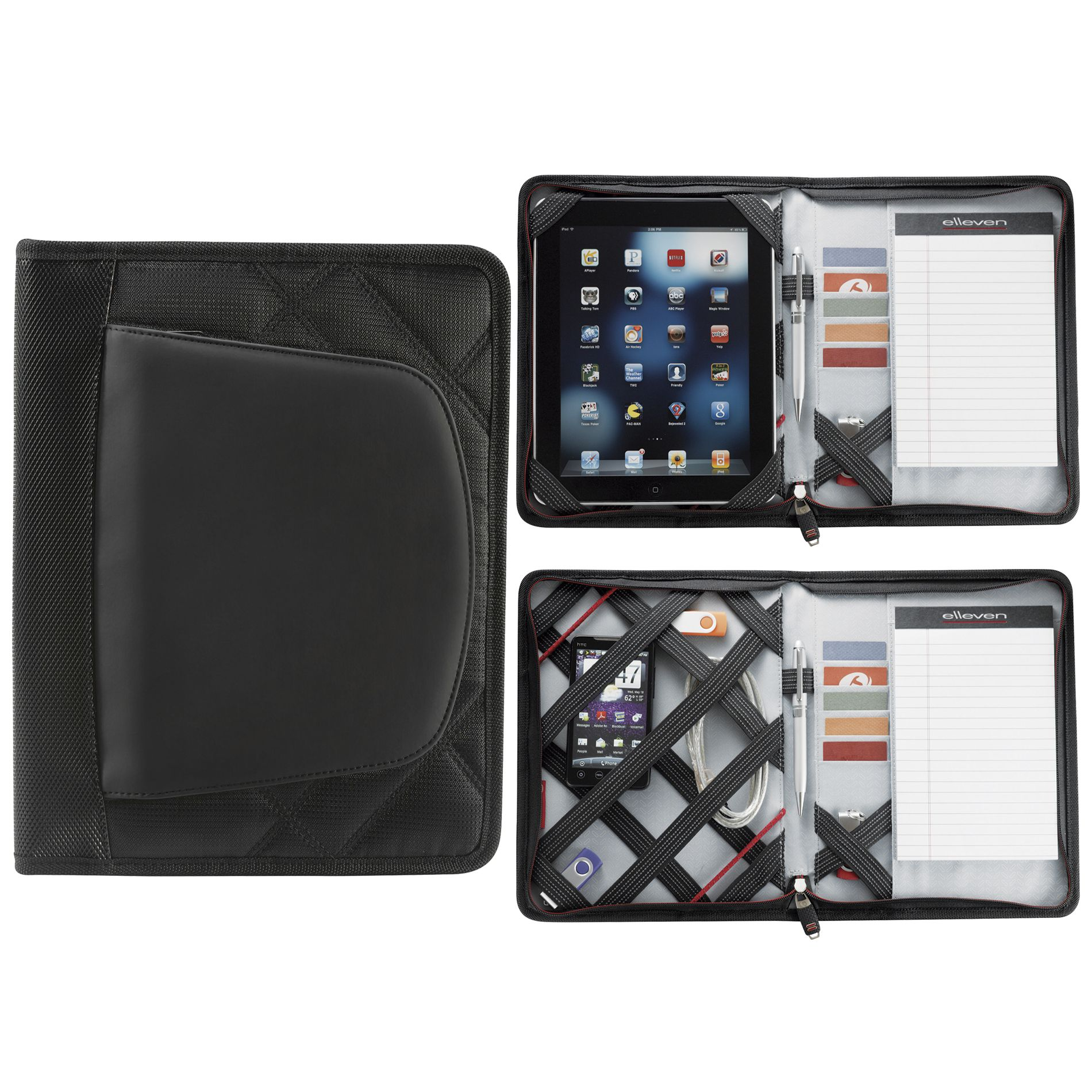 CARPETA JR. ZIPPERED PADFOLIO ELLEVEN NG